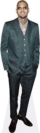 Green Suit Chris Brown Life Size Cutout