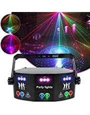 JMG 15 Eyes Party Lights, Sound Activated and Strobe Light RGB Effect Disco Stage Lighting by DMX Control LED Music Lights
