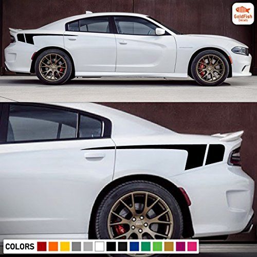Rear Quarter Panel Racing Hockey Kit Sticker Decal Graphic Compatible with Dodge Charger 2011-2017 Dodge Charger Quarter Panel