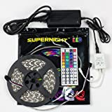 SUPERNIGHT(TM) 16.4 Ft 5050 Waterproof 300leds,RGB Color Changing Kit with ...