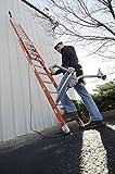 Louisville Ladder L-3025-24 Type IA Load Capacity Light Fiberglass Extension Ladder, 24'/300 lb