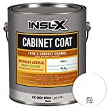 painting kitchen cabinets white INSL-X CC560109A-01 Cabinet Coat Enamel, Semi-Gloss Paint 1 Gallon White