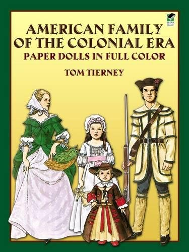 [American Family of the Colonial Era Paper Dolls in Full Color (Dover Paper Dolls)] (Log Costume)