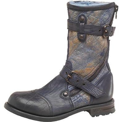 Womens Ugg Adela Biker Boots Ink Girls Ladies (3.5 UK 3.5 US 5 EUR 36