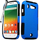 zte imperial ll phone cases - for ZTE Imperial ll 2 Mesh Perforated Skin Cover Case Stylus Pen ApexGears (TM) Blue Black