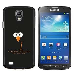 LECELL--Funda protectora / Cubierta / Piel For Samsung Galaxy S4 Active i9295 -- Divertida linda del cuervo del cuervo --