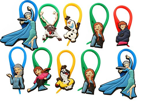 Hans Costumes From Frozen (AVIRGO 10 pcs Colorful Soft Zipper Pull Charms for Backpack Bag Pendant Jackett Set # 53-4)