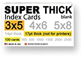 SUPER THICK 3x5 / bulk packs/heavyweight index