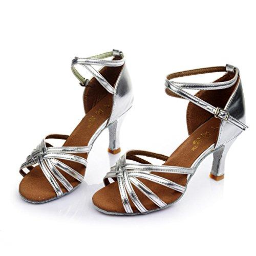 Sandali Dance Salsa Colori Satin Donne Della Shoe Superiore Delle Ragazza altri 36 Professionista Med Ballroom Latino Scarpe b 0q4P7