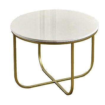 Table Basse Ronde En Marbre Cadre En Fer Forge Salon Balcon Table