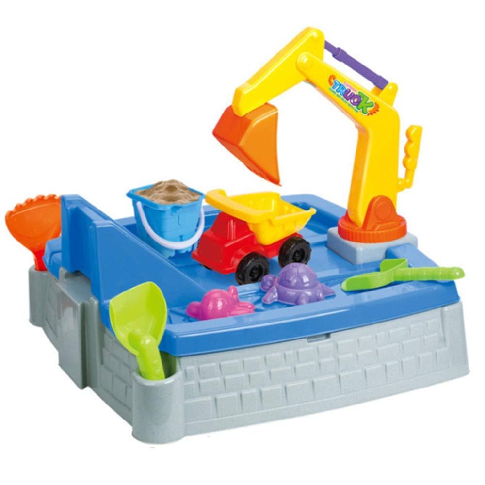 barato y de moda MultiColor Free Talla Juego de 11 juguetes de arena de de de Jugara para niños Juego de cubo de Jugara con moldes Cuchara de ingeniería Ruedas de auto rastrillos Juguete de minería de arena Juego de piscina Juego de juguetes de ca  Entrega gratuita y rápida disponible.
