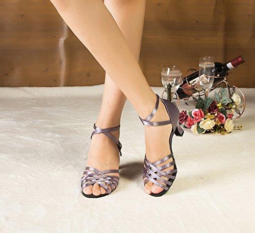 En Minitoo Piste De Croix Th124 Femme Sandales Danse Sangle nbsp;mid Talon Pour Mariage Violet Latine Satin Taogo Dance XUUSqn0