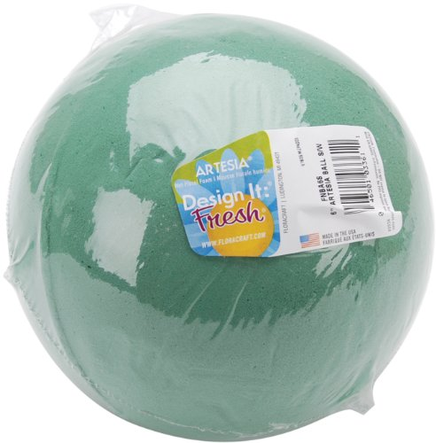 Floracraft Wet Foam Ball, 6-Inch, Green]()