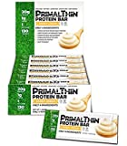 Primal Thin Protein Bars w/20g Organic Protein Grass Fed Whey (130 Cal, 1g Sugar, 1 Net Carb) (Gluten Free) (12 Bars)