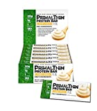 Primal Thin Protein Bars 12 Bars w/ 20g Organic Protein Grass Fed Whey (130 Cal, 1g Sugar, 1 Net Carb) (Gluten Free)