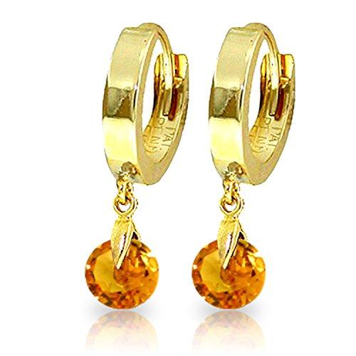 (1.6 Carat 14K Solid Gold Hoop Earrings Natural)