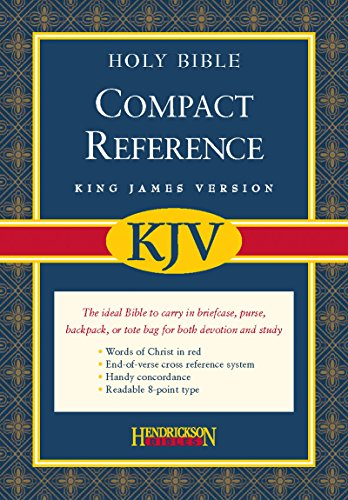 (KJV Compact Reference Bible, with Magnetic Closure: King James Version, Black Bonded Leather, Compact Reference Bible With Snap Flap)