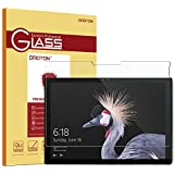 New Surface Pro 2017 / Surface Pro 4 Screen Protector - OMOTON [High Responsivity] [Scratch Resistant] [Bubble Free] [High Definition] Tempered Glass Screen Protector