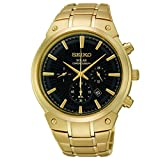 Seiko Men's SSC320 Analog Display Analog Quartz Gold Watch