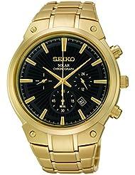 Seiko Mens SSC320 Analog Display Analog Quartz Gold Watch