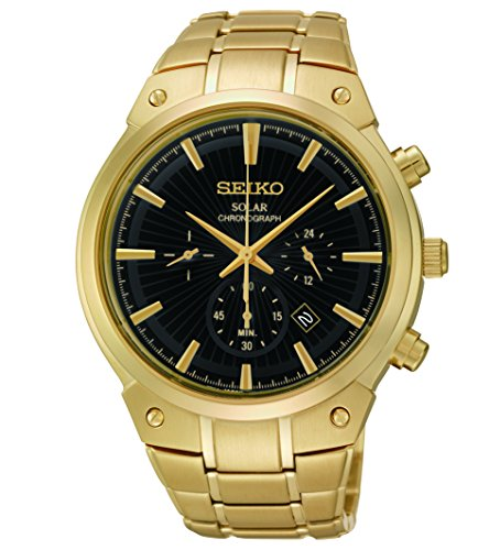 Seiko-Mens-SSC320-Analog-Display-Analog-Quartz-Gold-Watch