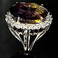 Women Men 925 Silver 6.5Ct Ametrine Cocktail Ring Wedding Vintage Size 6-10 by Siam panva (7)