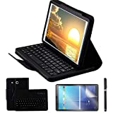 Galaxy Tab E 9.6 Keyboard Case with Screen Protector & Stylus, REAL-EAGLE Separable