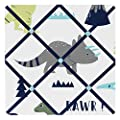 Sweet Jojo Designs Blue and Green Modern Dinosaur Fabric Memory/Memo Photo Bulletin Board