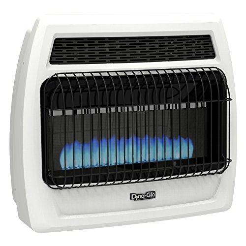 (Dyna-Glo BFSS30LPT-2P 30,000 Liquid Propane Thermostatic 30K BTU LP Blue Flame Vent Free T-stat Wall Heater)