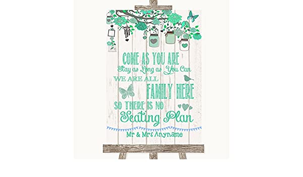 Letrero de boda con texto en inglés «All Family No Seating ...