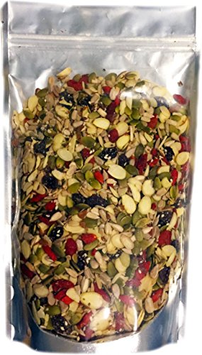 Raw Superfoods Salad Toppings Mix (Organic Goji Berries, Raisins, Almonds, Chia, Flax, Pumpkin, Sesame and Sunflower Seeds) 24 oz