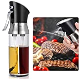 Olive Oil Sprayer and Vinegar Sprayer with 2 Chambers,Transparent Vinegar Bottle Oil Dispenser for BBQ Salad Roasting Baking Grilling Frying Kitchen