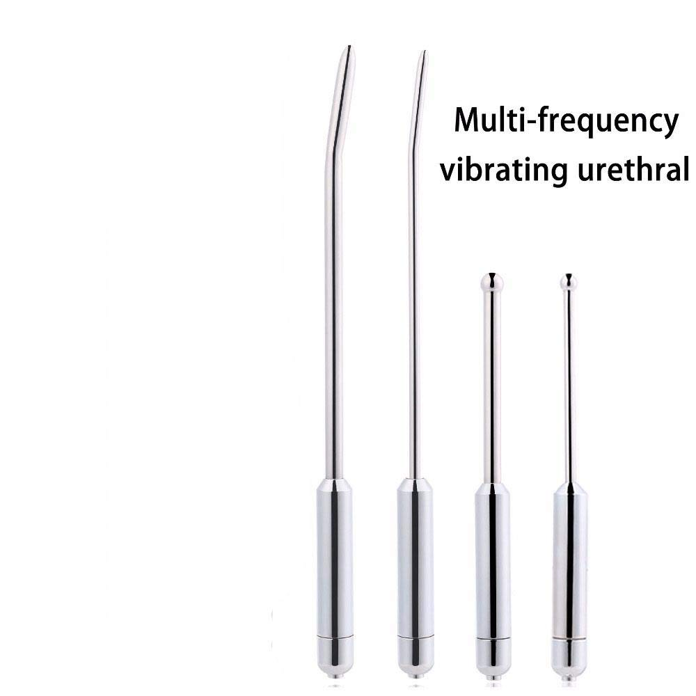 Craige Male Sounding Urethral Sound Penis Plug Vibrator Urethra Plug Dilator Stimulator Sex Toys for Men Dick Stainless Steel Rods,DB-095-6mm