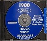STEP-BY-STEP 1988 FORD PICKUP TRUCK REPAIR SHOP MANUAL CD F-Series, Super Duty, F-150, F-250, F-350, Bronco. 88