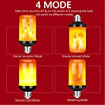 Y- STOP LED Flame Effect Fire Light Bulb - Upgraded 4 Modes Flickering Fire Holiday Light Decorations - E26 Base Flame Bulb with Upside Down Effect
