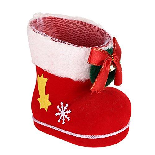 Whitelotous Christmas Sweeties Boots Candy Boots Christmas Candy Bag, Christmas Tree Decor Ornament (L: 14 x 8 x 14cm)