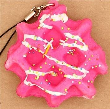 Colgante blando para móvil waffle rosa salsa decoración