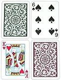Copag Poker Size Regular Index 1546 Playing Cards (Green Burgundy Setup)