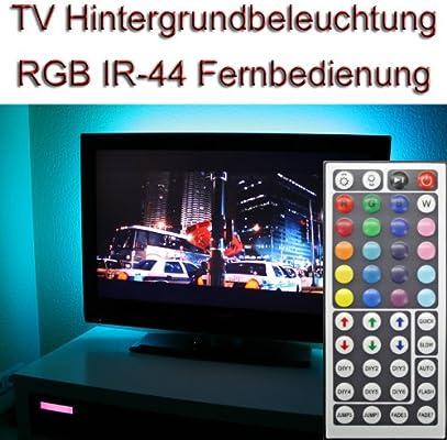 DELLOPTOELECTRONICS Set ~ 47 TV IR 44 RGB LED luz de Fondo Background Light: Amazon.es: Electrónica
