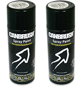 2 x canbrush spray paint for metal plastic. Black Bedroom Furniture Sets. Home Design Ideas