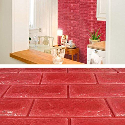 Yazi 3d rustic brick foam sticker removable wallpaper home for 3d wallpaper for home uae