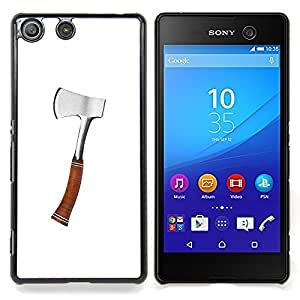 - Axe Silver Wood Work Forest Tool Cut - - Snap-On Rugged Hard Cover Case Funny HouseFOR Sony Xperia M5