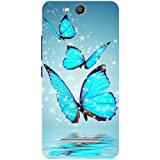 Casotec Flying Butterflies Design Hard Back Case Cover for Micromax Canvas Juice 3 Q392