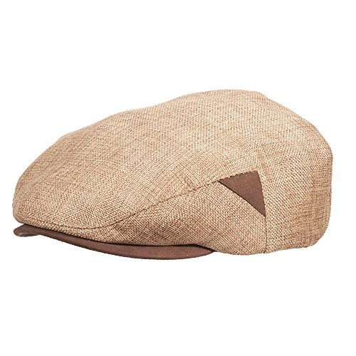 NEW STETSON REEDED LINEN TEXTURED IVY FAUX SUEDE PEAK TOAST (EXTRA LARGE) (New Suede Newsboy Hat)