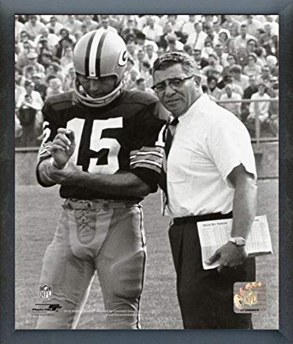 Packers Photograph Bay Green - Vince Lombardi & Bart Starr Green Bay Packers Photo (Size: 17