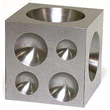"Steel Dapping Block Jewelers Silversmith Anvil 2"" Tool"