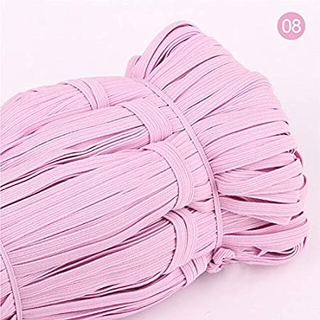 30 Yards Elastic 1//4 Inch for Sewing Craft DIY Apparel-Colorful Flat Elastic Bands High Elastic Rope Rubber Band Spandex Ribbon Sewing Lace Trim Waist Belt Band Garment Accessory-Elastic Ribbon Crafts