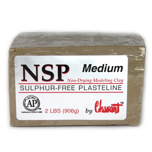 Chavant Clay - NSP Medium Tan - Sculpting and Modeling Clay (40lb Case) by Chavant