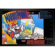ProFrames Mario Paint Super Nintendo NES SNES Game Series Box Art Yoshi Luigi Princess Print Framed Poster 12x18