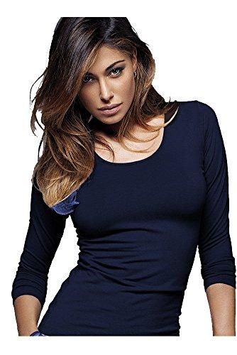 maglia donna manica lunga scollo lollo JADEA art. 4056 (m/l, blu)